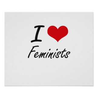 Amo a feministas póster