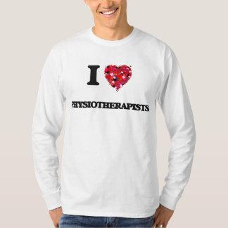 Amo a fisioterapeutas camisas