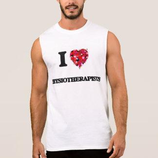Amo a fisioterapeutas camisetas sin mangas