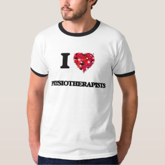 Amo a fisioterapeutas camisetas
