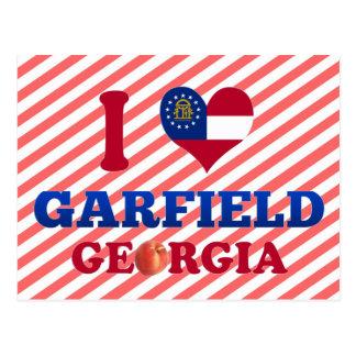 Amo a Garfield Georgia Postales