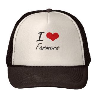 Amo a granjeros gorras