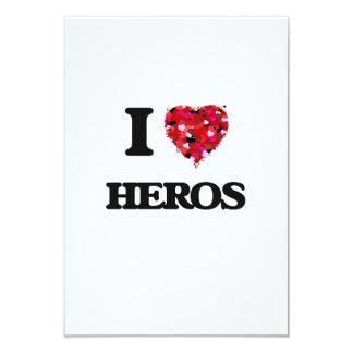 Amo a héroes invitación 8,9 x 12,7 cm