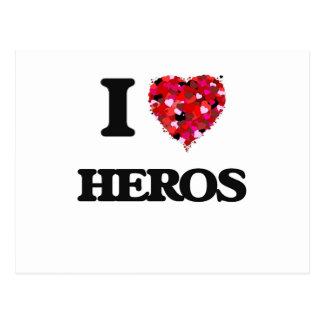 Amo a héroes postal