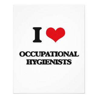Amo a higienistas profesionales flyer personalizado