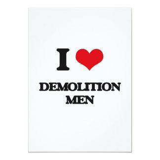 Amo a hombres de demolición invitación 12,7 x 17,8 cm