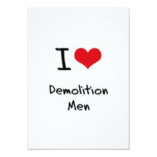 Amo a hombres de demolición invitaciones personalizada