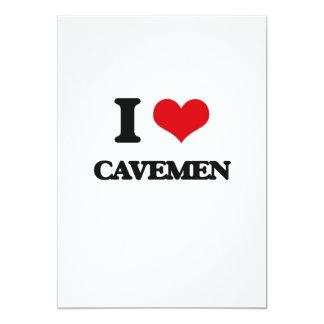 Amo a hombres de las cavernas invitación 12,7 x 17,8 cm