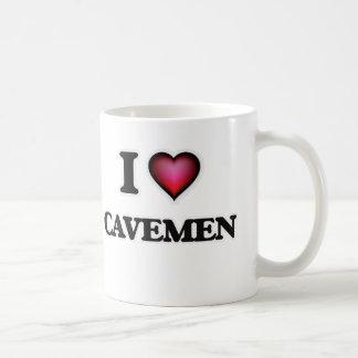 Amo a hombres de las cavernas taza de café