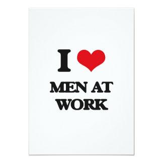 Amo a hombres en el trabajo invitación 12,7 x 17,8 cm