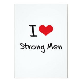 Amo a hombres fuertes invitación personalizada