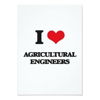 Amo a ingenieros agrícolas invitación 12,7 x 17,8 cm