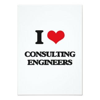 Amo a ingenieros asesores invitación 12,7 x 17,8 cm