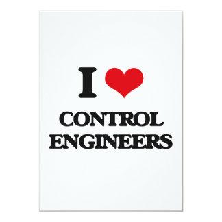 Amo a ingenieros de control invitación 12,7 x 17,8 cm