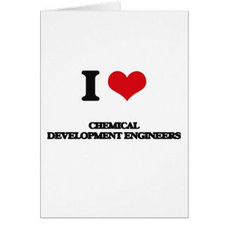 Amo a ingenieros de desarrollo químicos tarjeta de felicitación