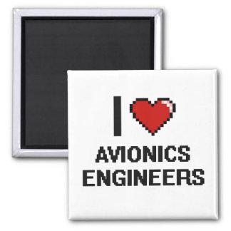 Amo a ingenieros de la aviónica imán cuadrado