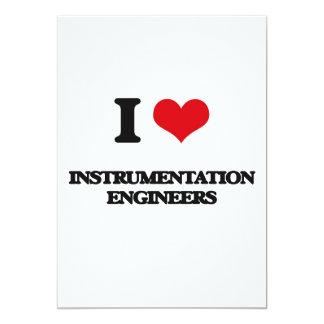 Amo a ingenieros de la instrumentación invitación 12,7 x 17,8 cm