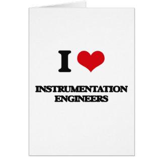 Amo a ingenieros de la instrumentación tarjeton