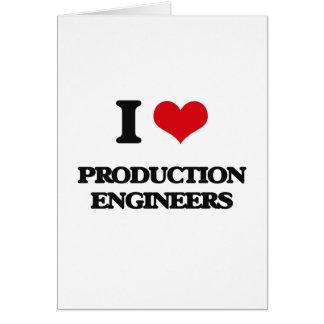 Amo a ingenieros de la producción felicitación