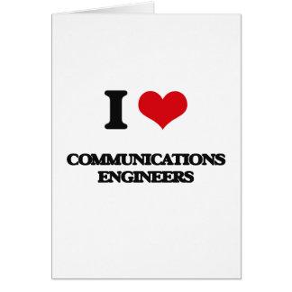 Amo a ingenieros de las comunicaciones tarjetas
