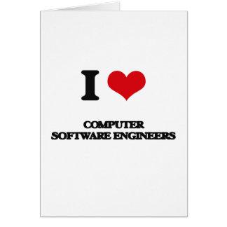 Amo a ingenieros de los programas informáticos tarjetón