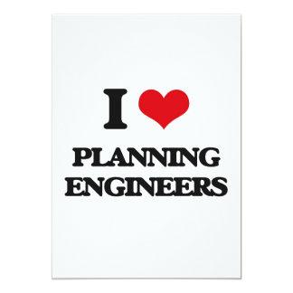 Amo a ingenieros de planeamiento invitación 12,7 x 17,8 cm
