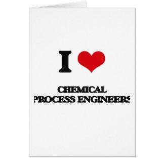 Amo a ingenieros de proceso químicos tarjeta de felicitación
