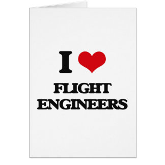 Amo a ingenieros de vuelo tarjeton