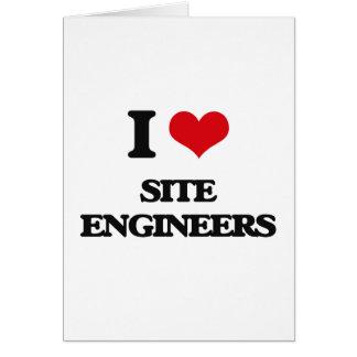 Amo a ingenieros del sitio tarjetas