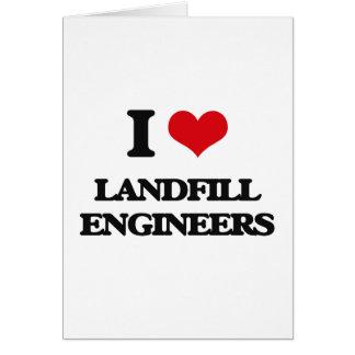Amo a ingenieros del vertido tarjeta de felicitación