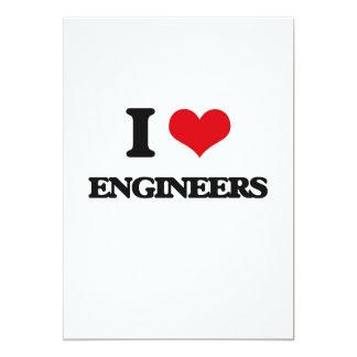 Amo a ingenieros invitación 12,7 x 17,8 cm