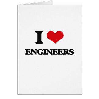 Amo a ingenieros tarjetas