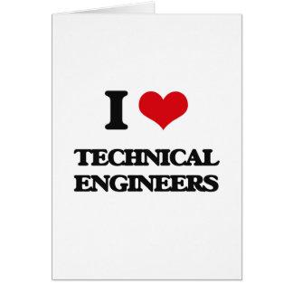 Amo a ingenieros técnicos felicitación