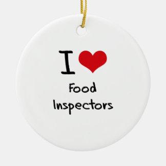 Amo a inspectores de la comida ornato