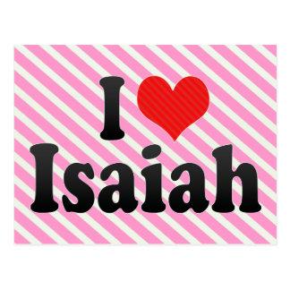 Amo a Isaías Tarjetas Postales