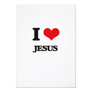 Amo a Jesús Invitación 12,7 X 17,8 Cm