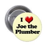 Amo a Joe el botón del fontanero Pin