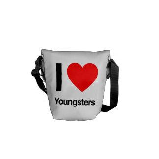 amo a jóvenes bolsa messenger
