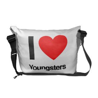 amo a jóvenes bolsas messenger
