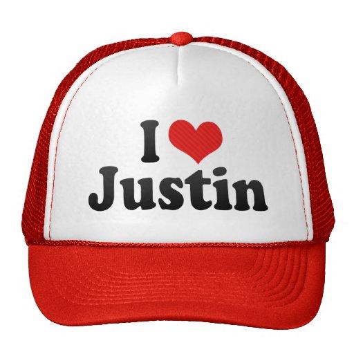 Amo a Justin Gorros Bordados