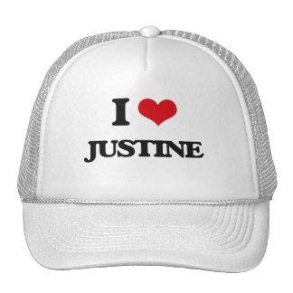 Amo a Justine Gorras De Camionero