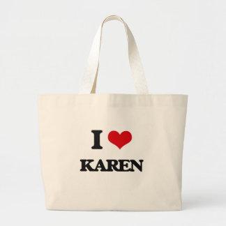 Amo a Karen Bolsa Tela Grande