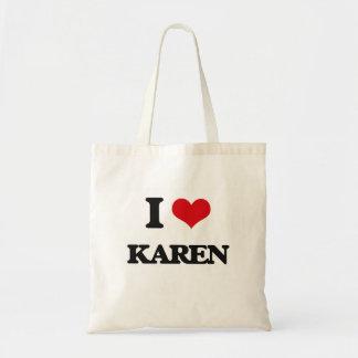 Amo a Karen Bolsa Tela Barata