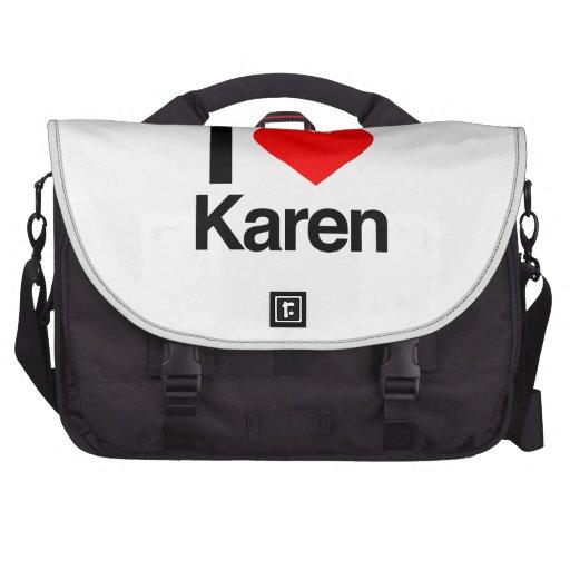 amo a Karen Bolsas De Portatil