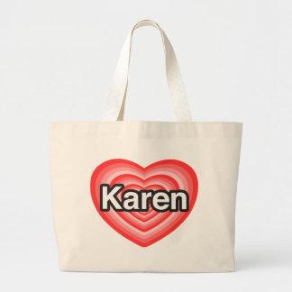 Amo a Karen. Te amo Karen. Corazón Bolsas De Mano