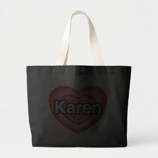 Amo a Karen. Te amo Karen. Corazón Bolsa