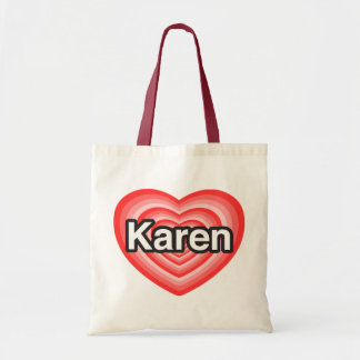 Amo a Karen Te amo Karen Corazón Bolsas