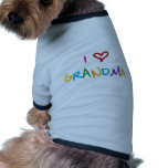 Amo a la abuela camiseta con mangas para perro