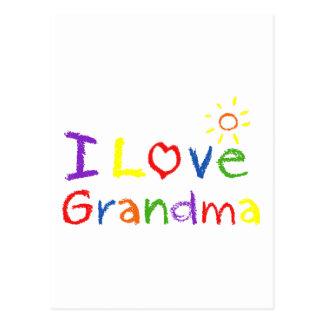 Amo a la abuela tarjeta postal