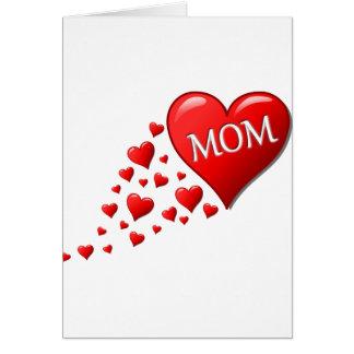 Amo a la mamá tarjetas